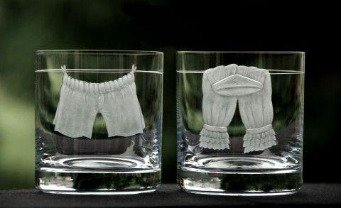 Spolu... valentýn svatební sklenky ryté sklo sada skleniček viskovky spodní prádlo dárek pro dva rytý motiv www.simira.cz 777,-Kč