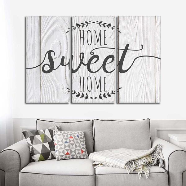 Home Sweet Home Multi Panel Canvas Wall Art Living Room Canvas Wall Decor Living Room Family Wall Decor