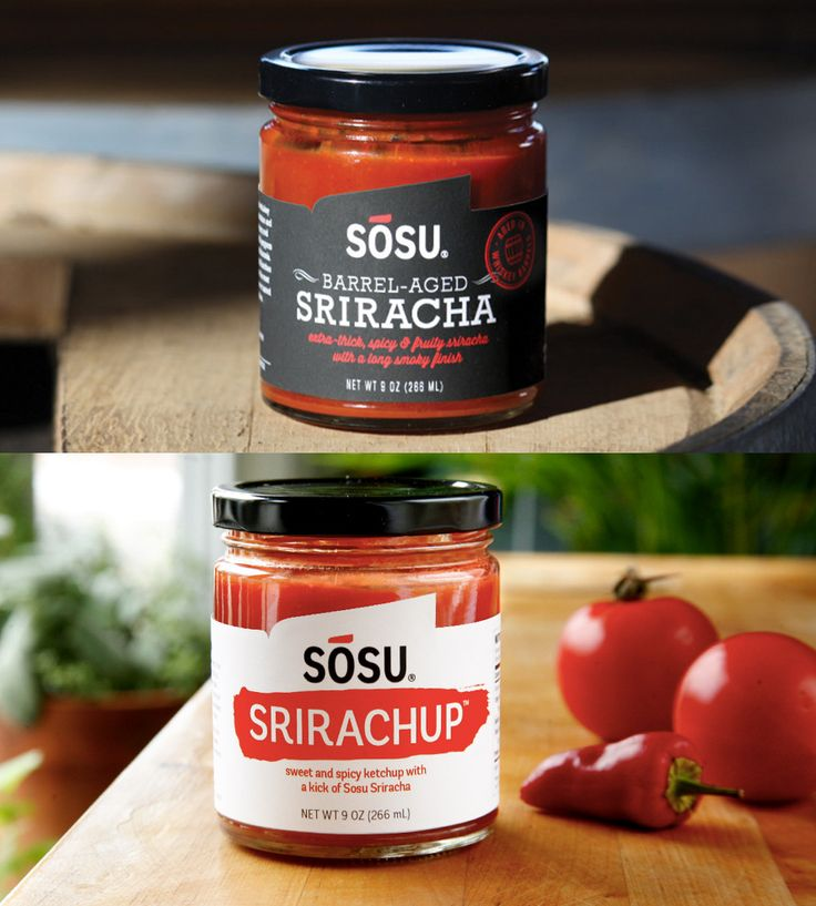 Sriracha Ketchup & Barrel Aged Sriracha Set | If the thought of spicy sounds sweet, boy, have we got some co... | Ketchup