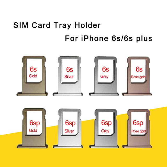Nano Sim Card Tray Holder For Apple Iphone 6s 6s Plus Grey Silver
