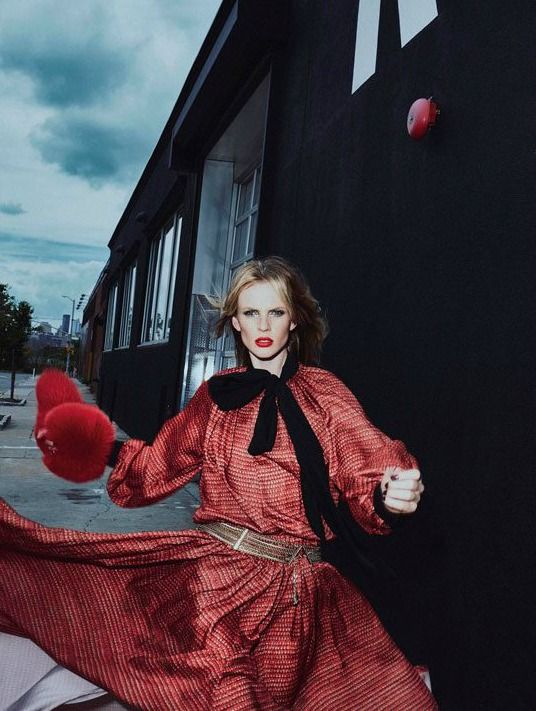 """""""Seeing Red"""" Anne V for Vogue Portugal 2016"""