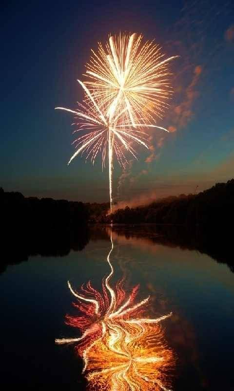 Fireworks & reflection