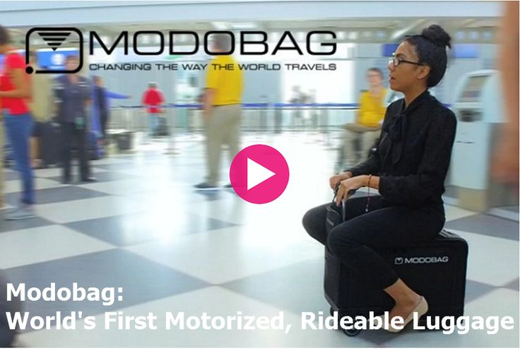 Modobag: World's First Motorized, Rideable Luggage.