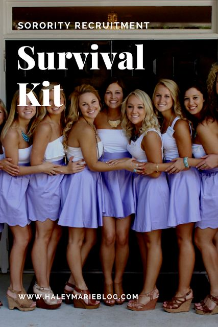 So you want to survive sorority recruitment? Here's my ultimate list of everything you'll need to get through it!