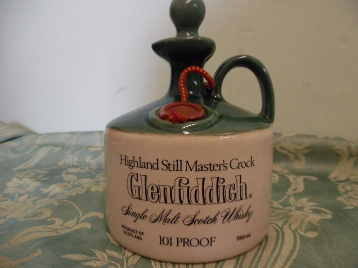 Glenfiddich Whisky Decanter Highland Still Masters's Crock 101 Proof 750ml   eBay