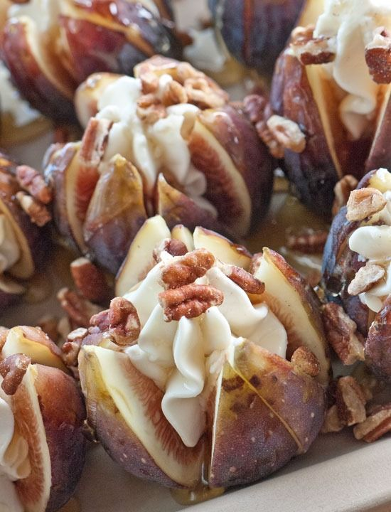 Roasted Chevre, Honey and Walnut Stuffed Figs | Sticky, Gooey, Creamy, Chewy | A Blog About Food with a Little Life Stirred In