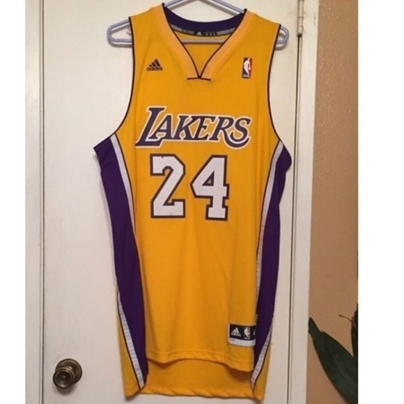 Kobe Bryant 24 Laker Jersey #LAKER #JERSEY!!!  The perfect jersey for a #Laker #Kobe #Bryant fan! In great condition! Only worn once, has minor stain on the 2 in the 24, easy removal!  **Ladies: this is the perfect gift if your man is a Laker or Kobe fan! **Gents: get this jersey before Kobe's last game!   *****Please ask if you have any questions and please see my other items!  *** NEGOTIATE a great DISCOUNT! **** Addidas Other