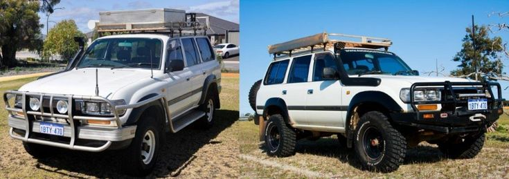 Before and after of our Land Cruiser
