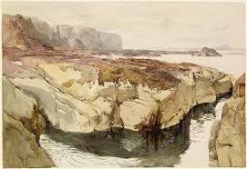 john ruskin paintings - Google Search 1847, Coast Scenes near Dunbar