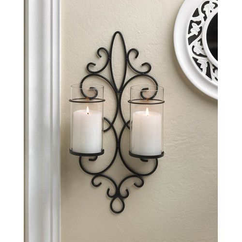 Found it at Wayfair - Esprit Duo Iron Candle Sconce
