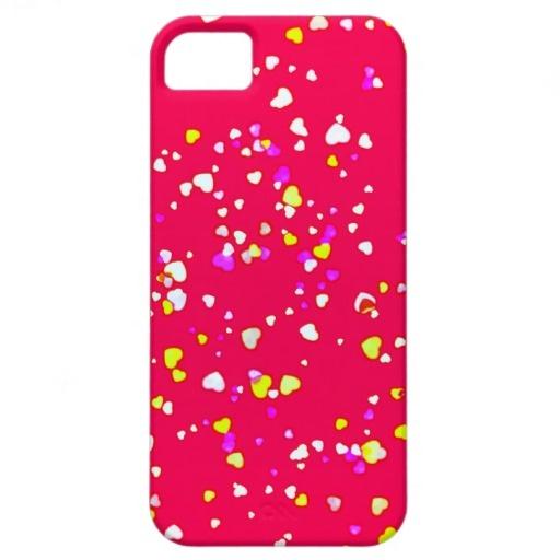 Girly Pink Love Hearts by Greta Thorsdottir - iPhone 5 Case from Zazzle