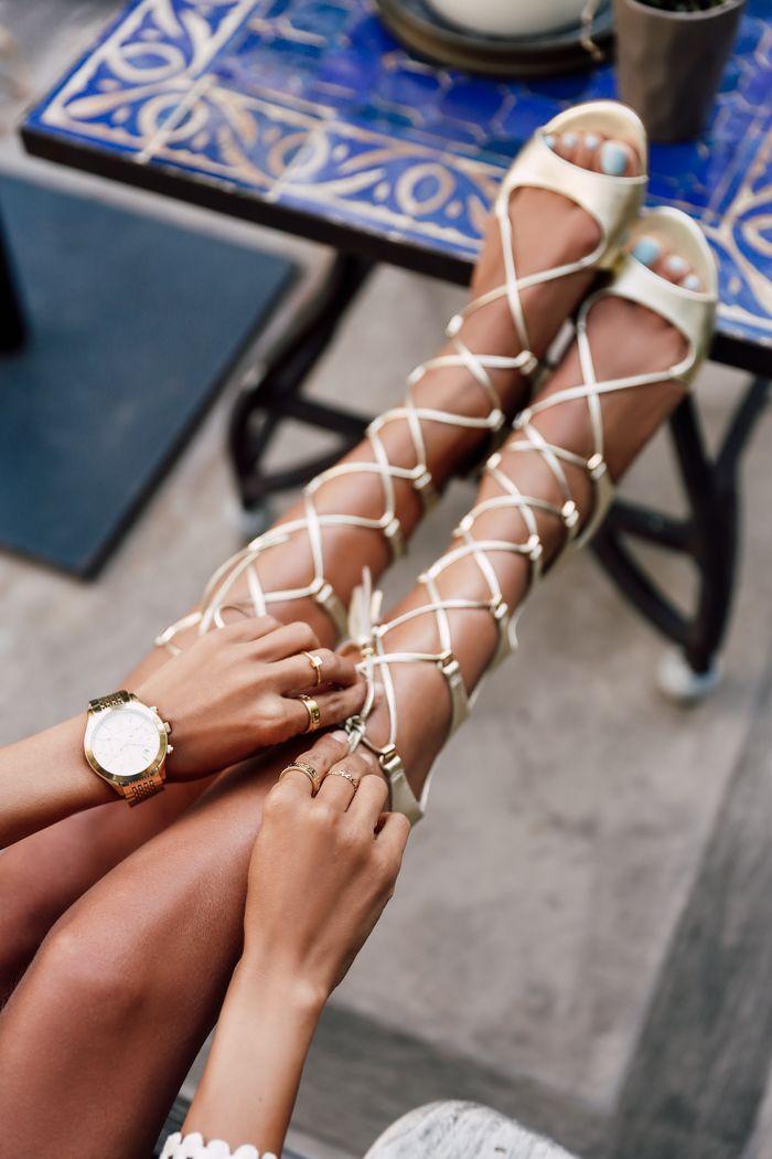 @marcfisher gold gladiator sandals