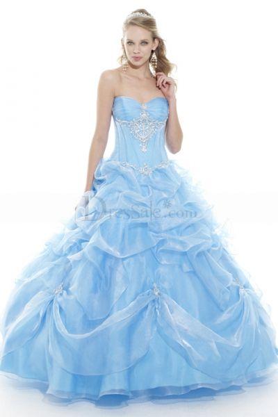 Powder Blue Sweet 16 Dresses