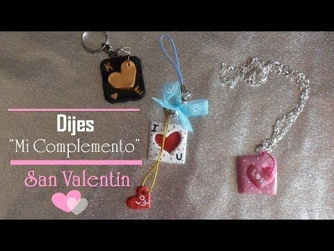 "♥Dijes ""Mi complemento"" SAN VALENTIN♥   Porcelana fria"