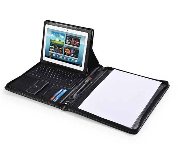 $148 Deluxe Leather Samsung Galaxy Tablet Case with Keyboard Portfolio style fit Letter/A4 Paper | iCarryalls Leather Fashion