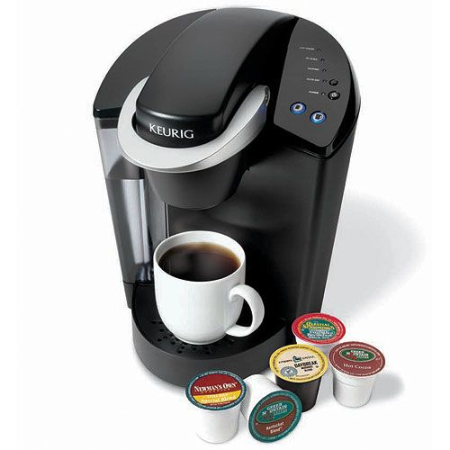 This Keurig Coffee Maker can make single coffee cup servings in under one minute in three sizes: six ounces eight ounces and ten ounces.