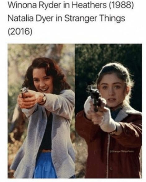 Stranger things au where Joyce is actually Veronica Sawyer but she changed her name << make this friggin happen<<<<that isn't possible, Heathers takes place in 1989, while Stranger Things takes place in 1983-1984. That theory isn't possible.
