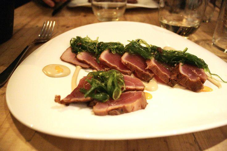 Tataki de atún - Restaurante Mr Frank, Madrid