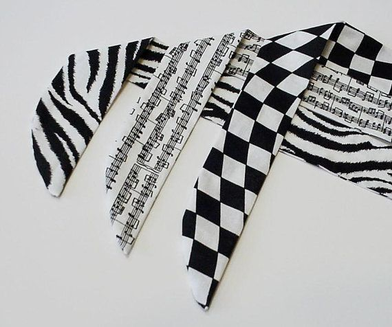 Neck Cooler Cooling Bandana Wrap Stay COOL Tie Body Head Heat Relief Eco Black n White Zebra Checkered Flag Music Notes Scarf iycbrand on Etsy, $9.99