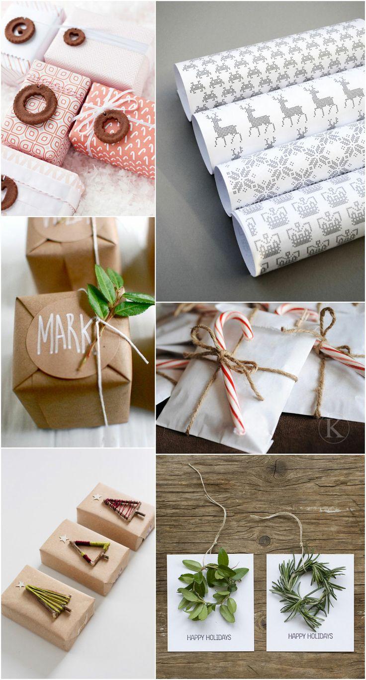 DIY Christmas Wrapping and Free Printables