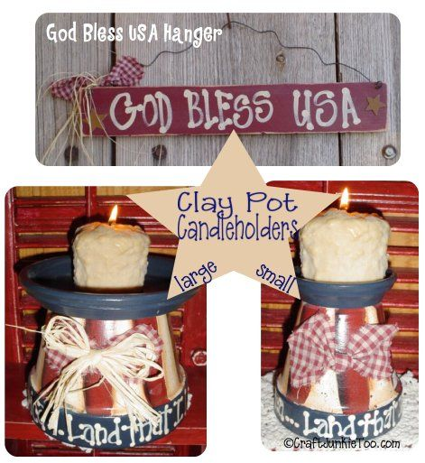 Craft Junkie Too: {Primitive Country Americana Home Decor}