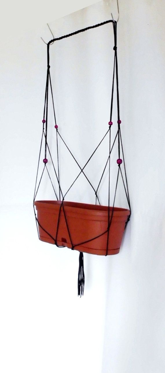 Adjustable Modern Macrame plant hanger-indoor plant holder-Hanging Planter-Hanging Basket-macrame beaded basket-macrame pot hanger