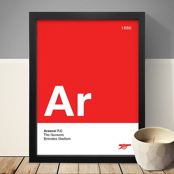 Arsenal Football Club Poster Football Poster A4 by LawandMoore