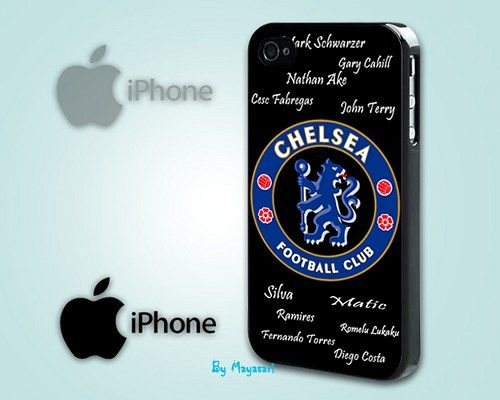 """Chelsea Football Club Print on Hard Plastic For iPhone 5 Case, Black Case  This case is available for: iPhone 4/4S iPhone 5/5S iPhone 6 4.7"""" screen Samsung Galaxy S4 Samsung Galaxy S5 iPod 4 iPod 5  P"""