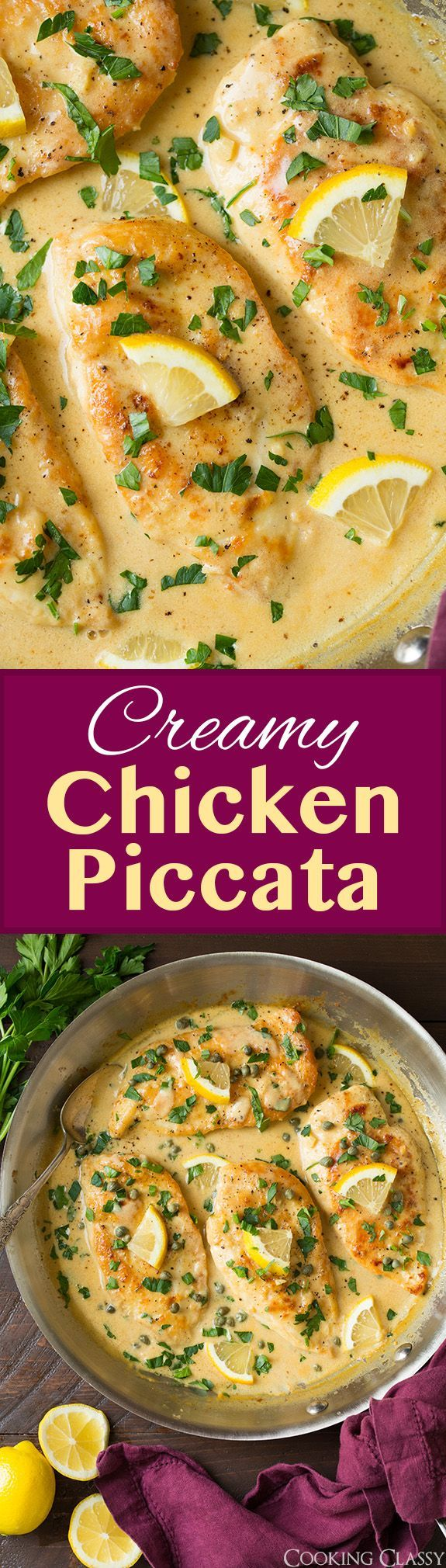 Creamy Chicken Piccata - this is my FAVORITE chicken piccata recipe! Unbelievably delicious! Love the addition of cream.
