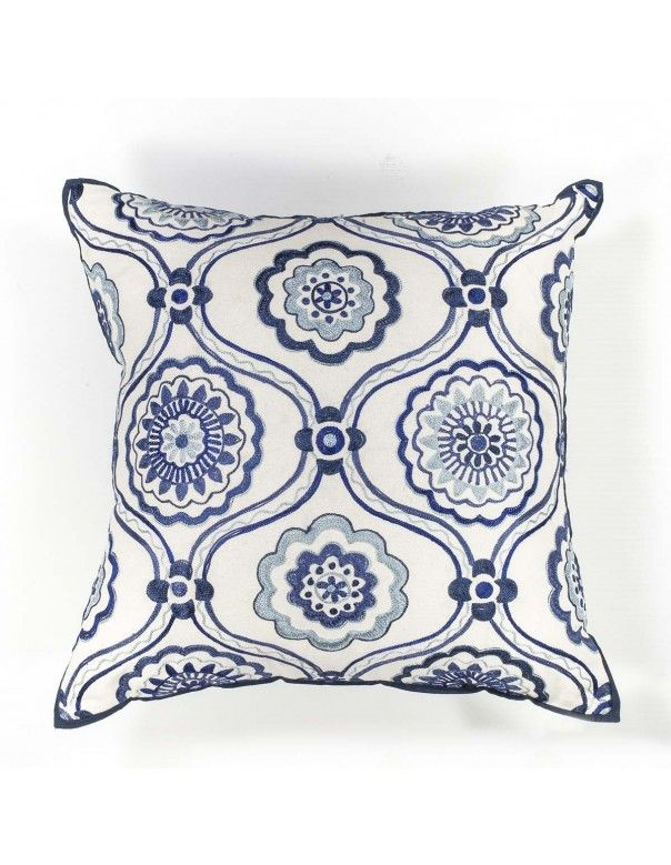 Ivory Accent Pillow (18in. x 18in.) Pillow L122 by Kas Rugs - $47.25