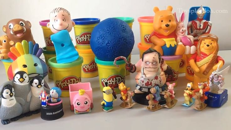 PLAY DOH SURPRISE EGGS with Surprise Toys - Minions, Winnie the Pooh, Pa...