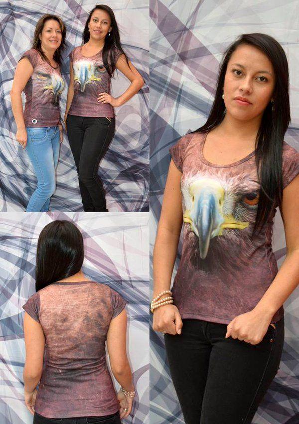 Camiseta águila real -Mujer  Elaborada en %100 poliéster  Precio $ 45.000  Tallas S- M- L Whatsapp 312 393 6893 contacto@subligrafica.com