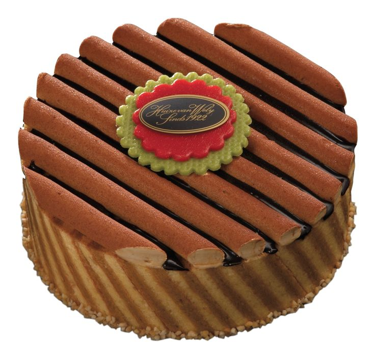 Ivonée; Moskovisch gebak, roomchocolade, luchtige hazelnootmerenque, koffielikeur en koffiecrème.