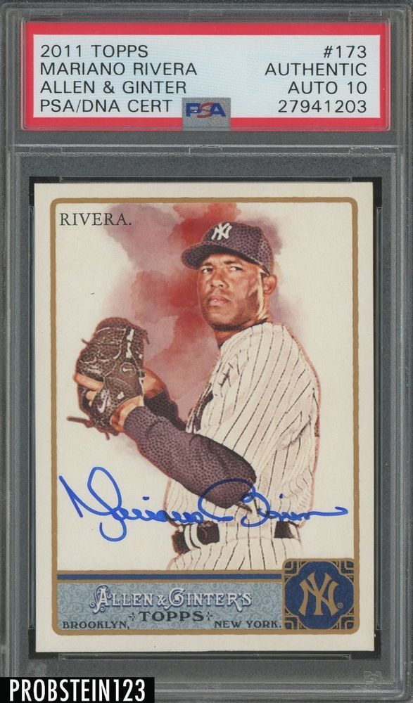2011 Topps Allen Ginter 3173 Mariano Rivera Yankees Signed