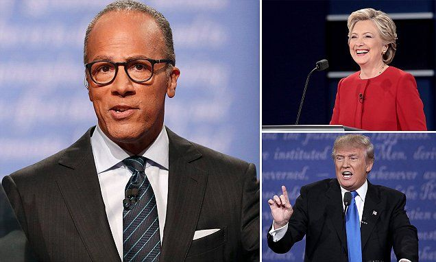 Lester Holt has been lambasted on social media with accusations he favored Hillary Clinton following Monday night's presidential debates.