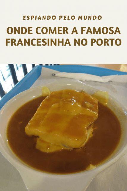 Veja uma sugestão de local onde comer a francesinha, tradicional prato do Porto em Portugal