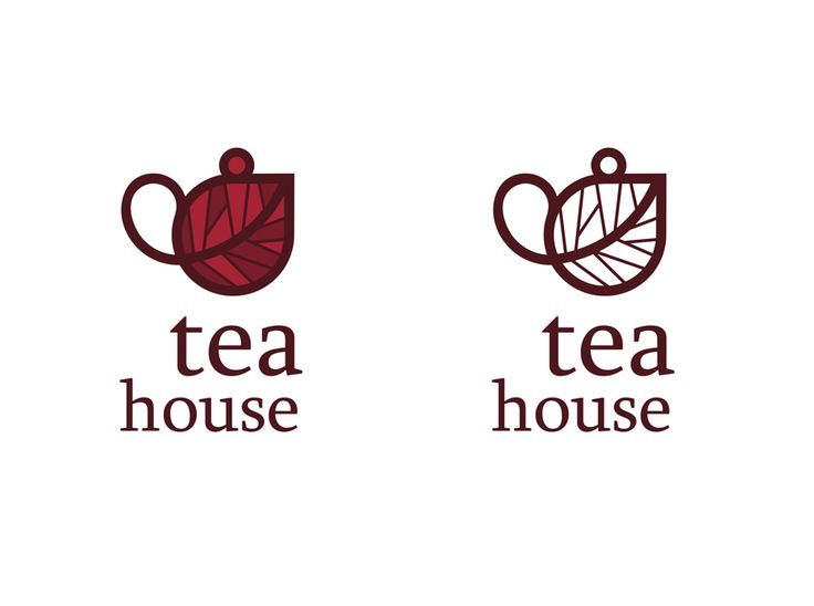 logo / Tea House, cute, but looks nothing like a house