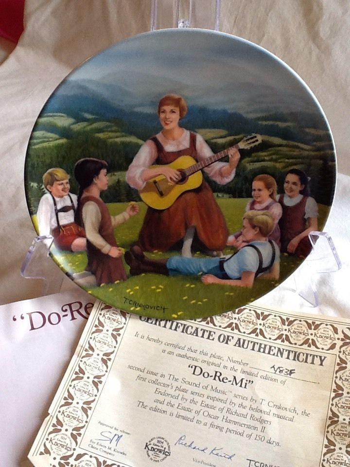Do Re Mi Collector Plate From The Sound Of Music & 29 best Vintage Decorative Plates images on Pinterest | Decorative ...