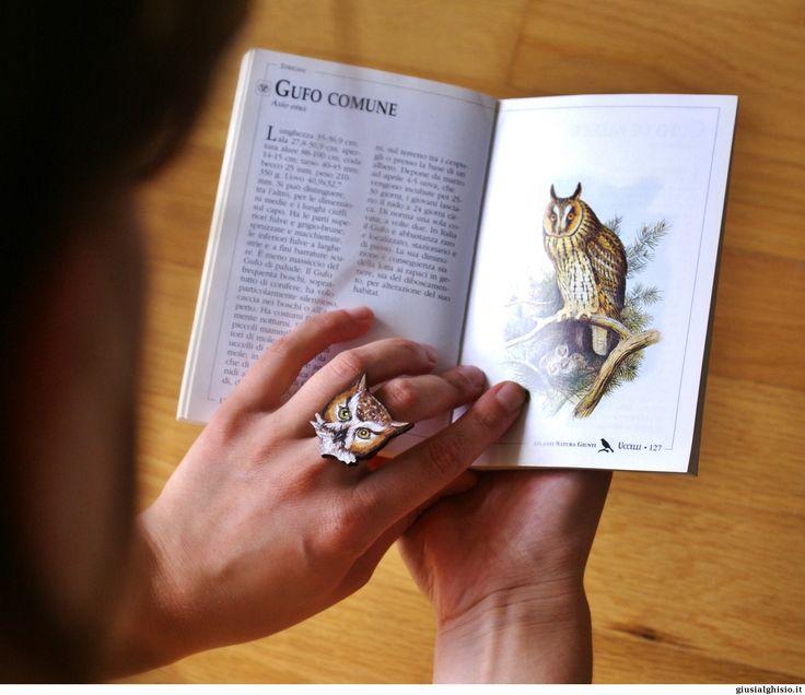 Anello gufo - Giusi Alghisio - anello gufo