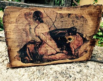 Ancient Roman Erotic Wall Painting from Pompeii