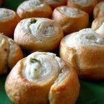 jalapeño crema de queso rollos de media luna