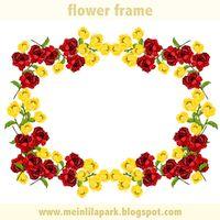 redyellow virág keret