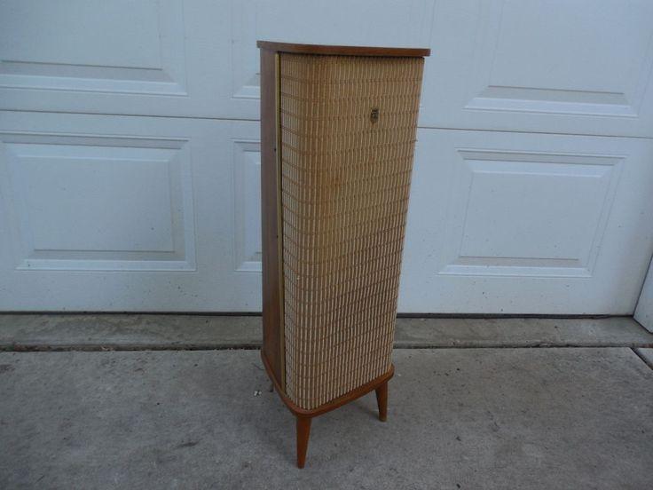 Rare Vintage Grundig Stereo Mate IV HI-FI Floor Speaker Teak Wood Germany 1950's #Grundig