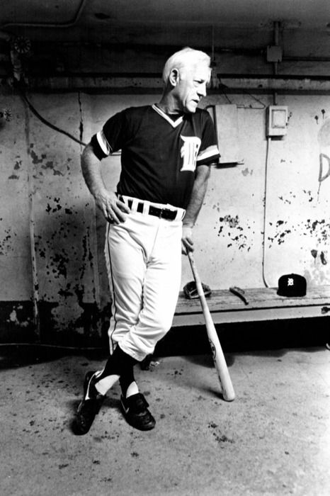 Sparky Anderson in the dugout.  Photo by Mary Schroeder/Detroit Free Press  The Tigers lose today, but this guy was a true winner.  R.I.P.