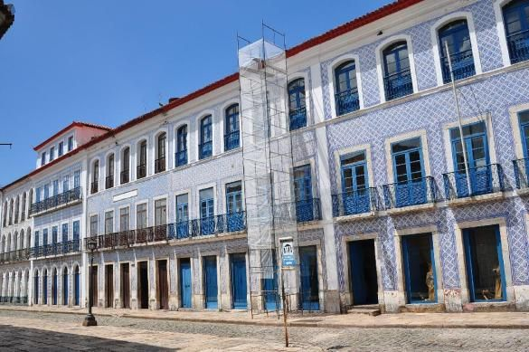 São Luís do Maranhão   Rua Portugal   fachadas com azulejos / tiled façades  #Azulejo #TiledFaçade #Padrão #Pattern #Brasil #Brazil