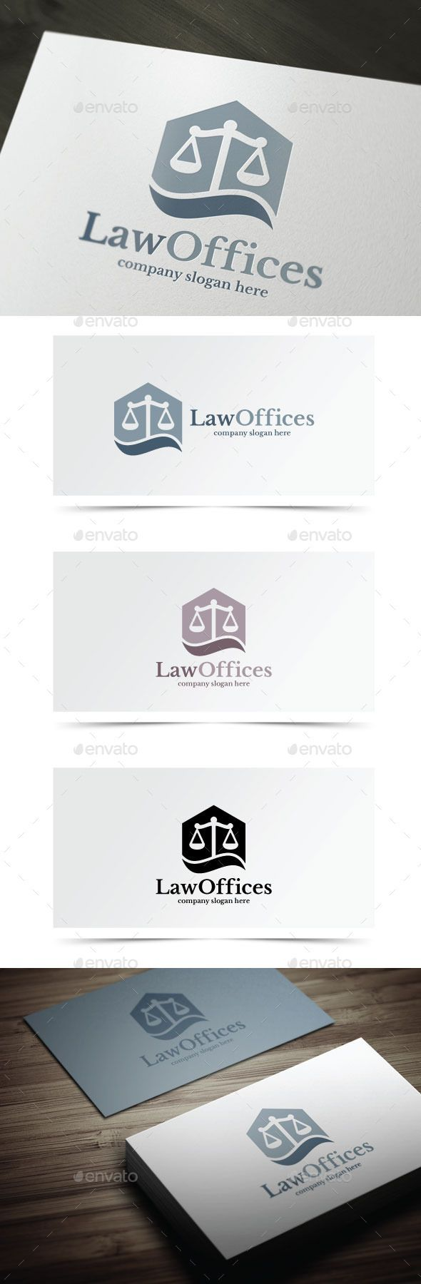 Law Offices - Objects Logo Templates