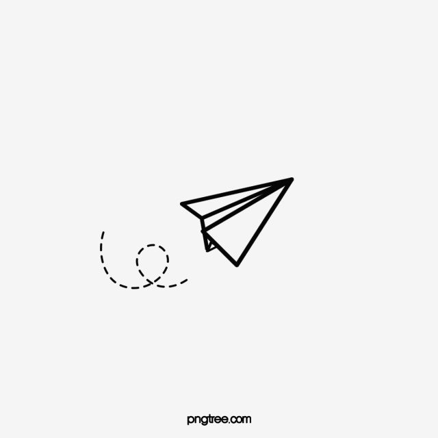 Cartoon Hand Painted Paper Plane Cartoon Clipart Plane Clipart