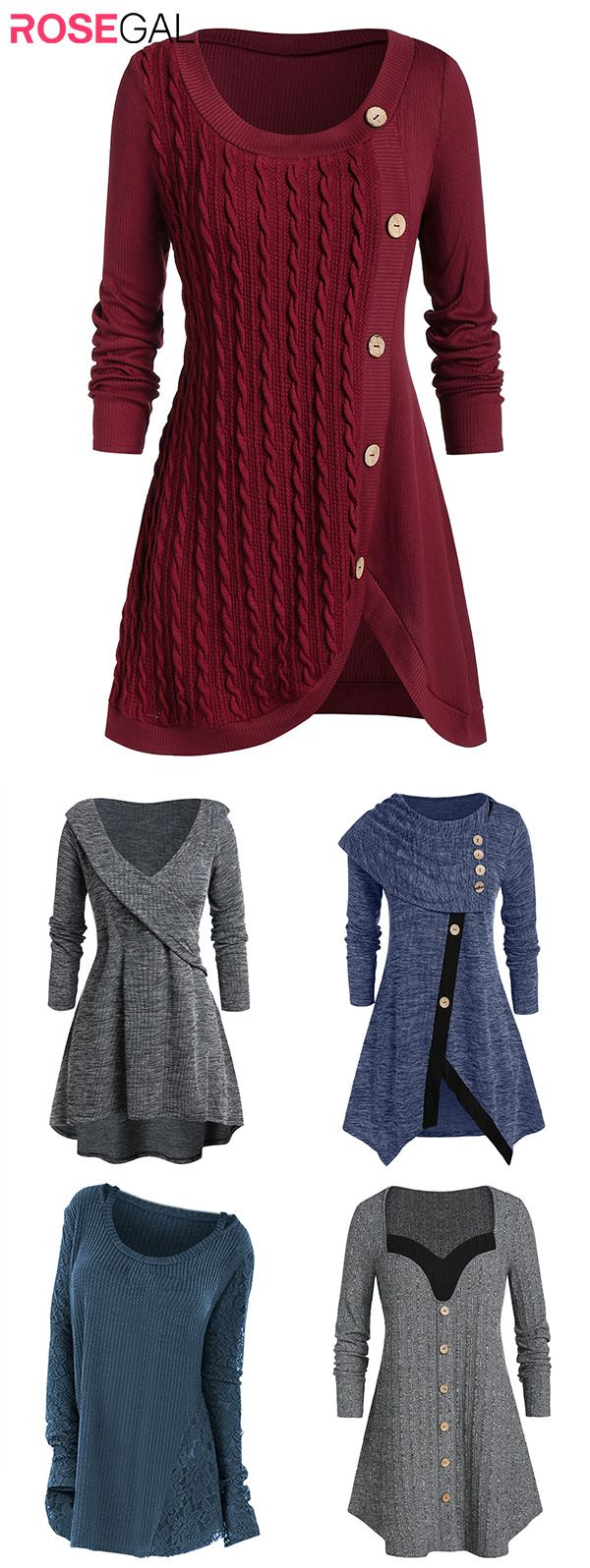 Rosegal plus size Fall Sweater outfits Women autumn fashion cardigans ideas