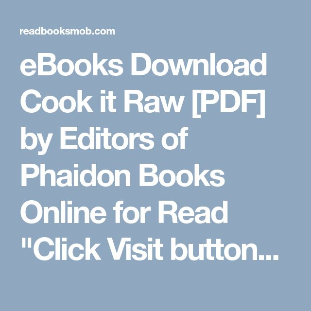 44 best my books images on pinterest button buttons and free ebooks download cook it raw pdf by editors of phaidon books online for read solutioingenieria Choice Image