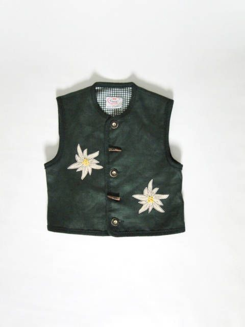 Austrian Vest/ Kids clothing / Vintage Clothing/ Vintage children's green vest/ Vintage Austrian Vest/  made in Austria by VintBlueBird on Etsy